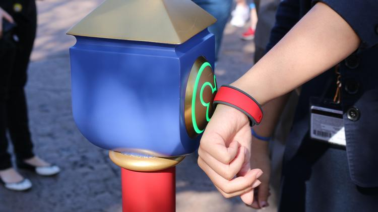 Checking into rides for FastPass+ takes a simple tap of the band to the new MyMagic pedestals.