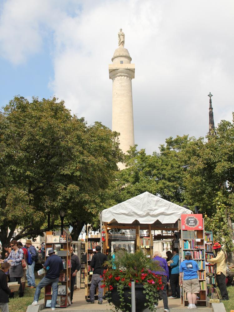 The Baltimore Book Festival, seen here in 2013, will move this year from Mount Vernon to the Inner Harbor.