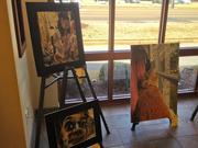 Artwork on display at Magna Bank's Oak Court branch. Through March 21, the community bank is exhibiting the art of the winners of the 49th Annual Mid-South Scholastic Art Awards at each of its five branches.