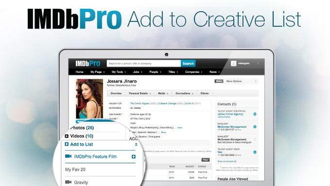With IMDbPro's new casting tools, casting directors can post casting notices directly in the subscription site, filter submissions by specific criteria and then organize the actors they'd like to keep track of into lists.