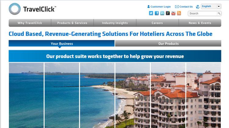 TravelClick's web site details a large suite of travel marketing and reservations-management tools for the hotel industry.