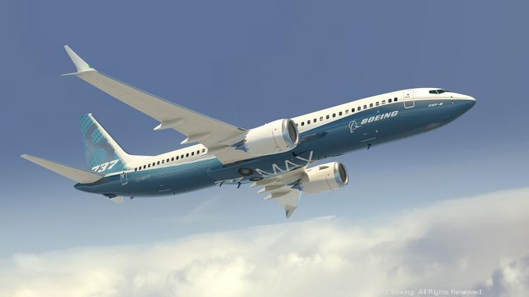 Customer demand for commercial aircraft, including 1,900 orders for the 737 Max, pictured, is continuing to drive commercial revenue over the defense side for Boeing.