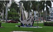 Artwork in front of The Fillmore Miami Beach at The Jackie Gleason Theater.