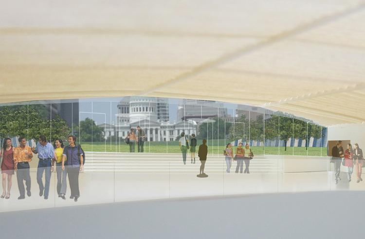 Updated rendering of one of the planned upgrades to the Gateway Arch grounds.