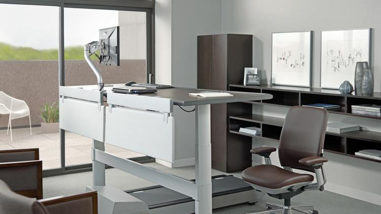 One idea for productivity: Invest in at least one walk station for the office, where employees can walk on a treadmill while walking, said Vince McCormack, president of Perdue Office Interiors in Downtown Jacksonville.