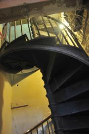Original spiral staircase in the Pioneer Building.