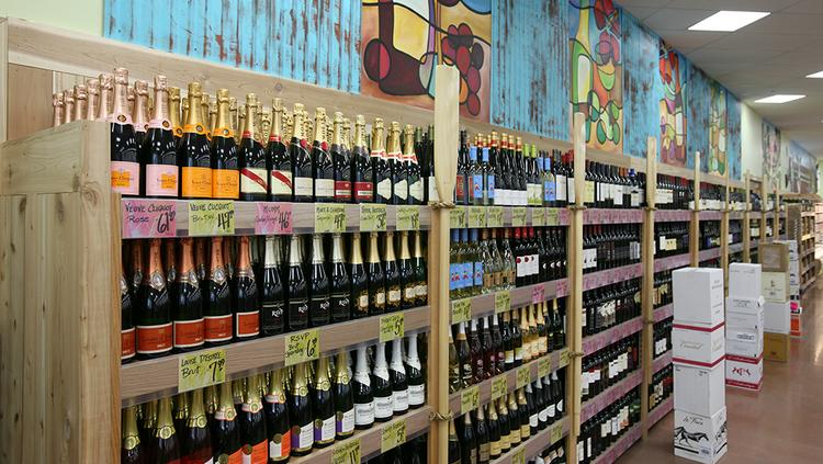 The wine selection at a Trader Joe's in Tampa