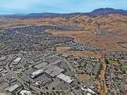 This aerial photo shows the Somersville Towne Center in Antioch from the north with Mount Diablo visible in the top right.