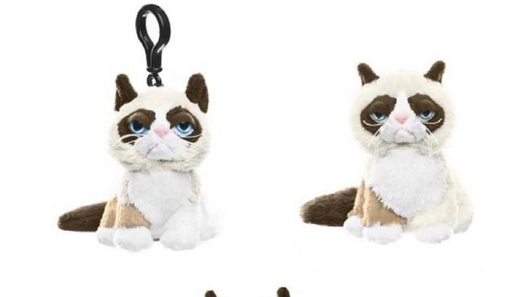 These three Grumpy Cat plush toys made by Ganz have been recalled because of a possible choking hazard.