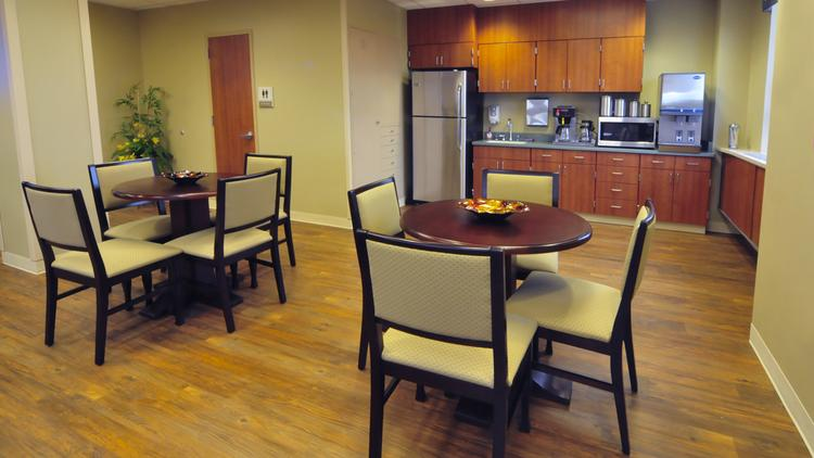 Here's what a VITAS kitchen looks like in the hospice unit.
