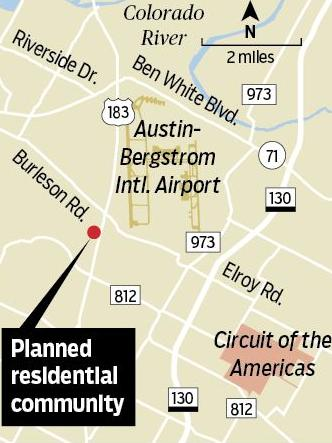 Brookfield Residential will build a 200-acre master-planned community southwest of Austin-Bergstrom International Airport.
