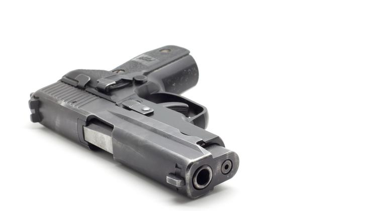 Guns were stolen from two Wal-Mart stores.