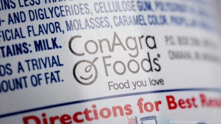 The ConAgra Foods Inc. logo is displayed on the company's food products.