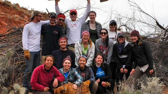 A group of Boston University students spent their spring break in Northern Arizona doing environmental and community work.