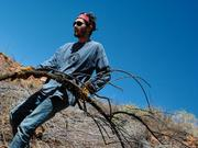 Boston University student Ryan Mandly was with a group of other students cleaning up areas near Flagstaff and the Navajo Nation.