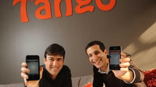Tango, a Mountain View messaging startup co-founded by Uri Rez (left) and Eric Setton, is sticking to Mountain View after a cash injection from Alibaba.