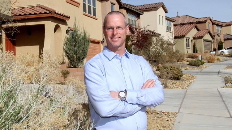 Jay Gillilan is pictured in the Loma Colorado development in Rio Rancho. Pulte is involved in communities across the Albuquerque metro and in Santa Fe.