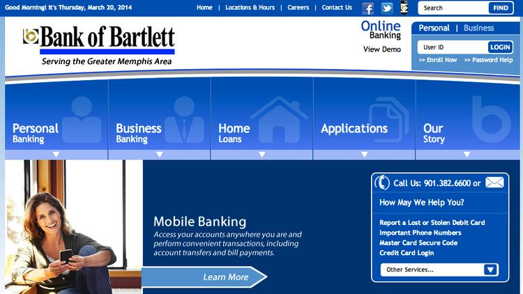 Bank of Bartlett has a new look online.