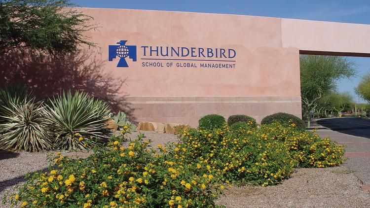 The Thunderbird School of Global Management in Glendale.