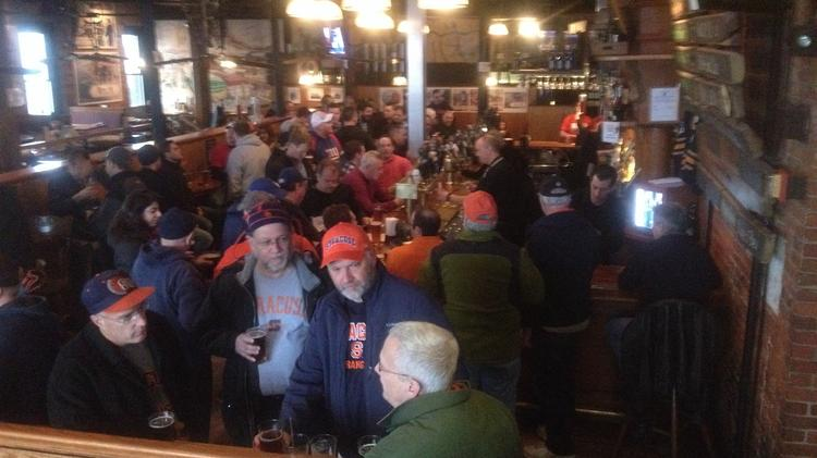 The Pearl Street Brewery & Grill in downtown Buffalo welcomed scores of basketball fans for the NCAA men's tournament.