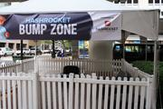 The Hashrocket Bump Zone at the corner of South Hogan and West Forsyth streets.