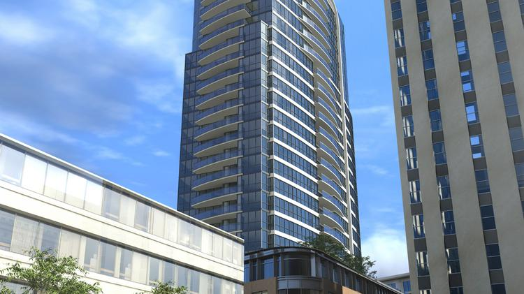 Rendering of the proposed 26-story tower in Durham.