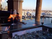 The patio at Cast & Plow in Marina del Rey