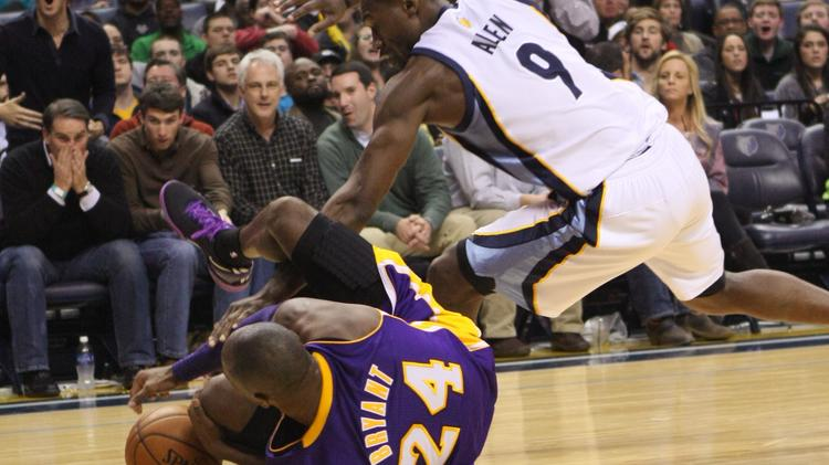 Tony Allen being Tony Allen against the Los Angeles Lakers earlier this season