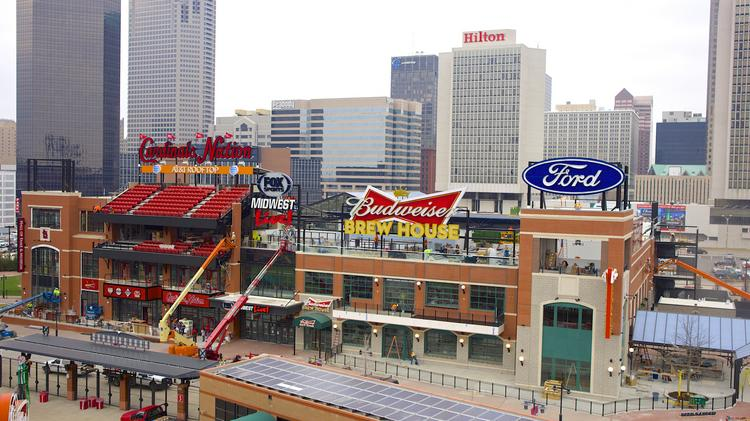 Ballpark Village's rooftop seats are sold out for Opening Day, April 7.