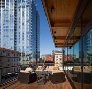 Lease Crutcher Lewis  Contractor Lease Crutcher Lewis got to build for itself with a wood-heavy office in downtown Portland, including ample deck space.  More photos of Lease Crutcher Lewis' space