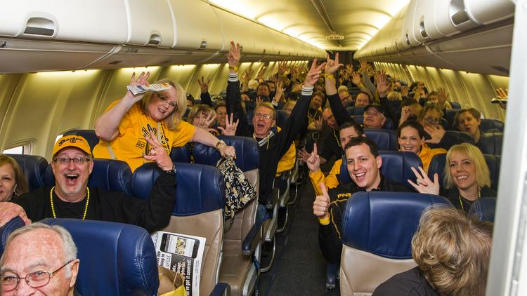 The Wichita State University Alumni Association chartered a Southwest Airlines flight full of Shocker fans to St. Louis Friday morning. The Shockers tip off at 6:10 p.m.