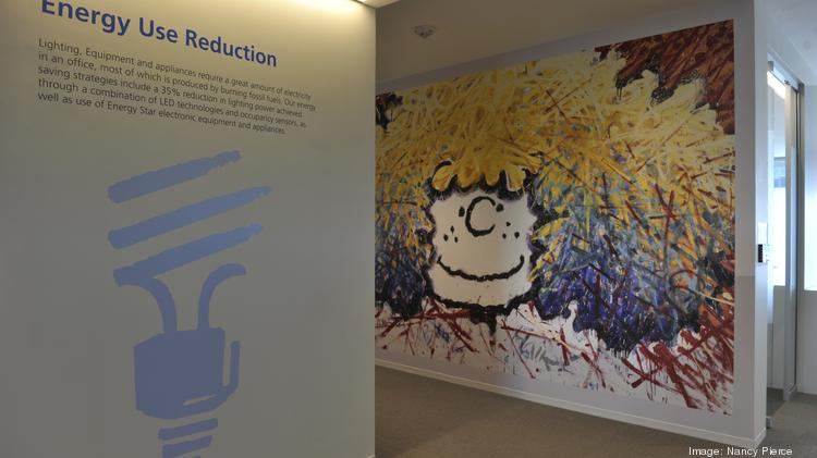 """Throughout MetLife's new offices in south Charlotte, elements of the """"Peanuts"""" comic strip are part of the decor."""