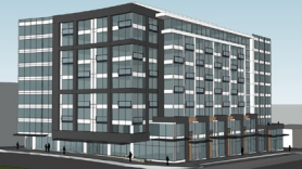 Murray Franklyn Cos. paid $12 million for a property in downtown Bellevue, where this apartment project is planned.