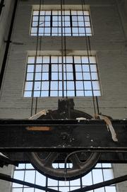 A former warehouse on R Street is under the process of transformation to a mixed-use development to be called Warehouse Artist Lofts. The original warehouse was built for 1914 and for many years, operated as a storage as the Lawrence Fireproof Warehouse, according to Ali Youssefi. This is a view of the original shaft for a multi-ton freight elevator used to access the six floors of the warehouse. The elevator shaft will eventually contain the new elevator cab for the apartments.