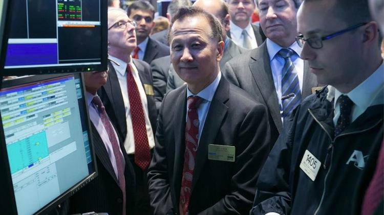 A10 Networks joined the ranks of $1 billion companies Friday when it raised about $187.5 million in an IPO. CEO Lee Chen is shown here monitoring early trading action at the NYSE.