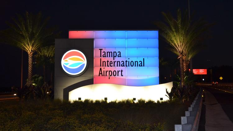 Tampa International Airport welcome sign