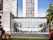 The planned Apple store at 300 Post St. in San Francisco was designed by Foster + Partners and will feature 44-foot-high sliding glass doors.