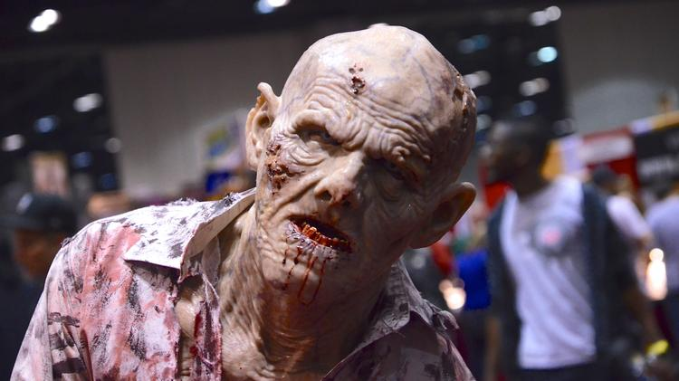 Fan dressed as a zombie at MegaCon.