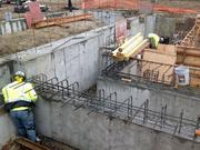 The walls were poured at the streetcar's maintenance and operations facility.