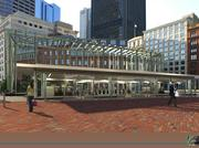 Another view of the new Government Center MBTA station.