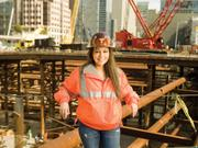 Maria Ayerdi-Kaplan, executive director of the Transbay Joint Powers Authority, poses in the future Transbay Transit Center. The TJPA has two more land sites left to sell in the Transbay district.