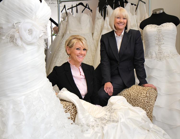 Stacey Sparks-Huff, left, and her mother, Henrietta Sparks own and operate Belle Bridal Boutique in Bellevue, one of a half-dozen bridal stores in the U.S. that cater to plus-size women.