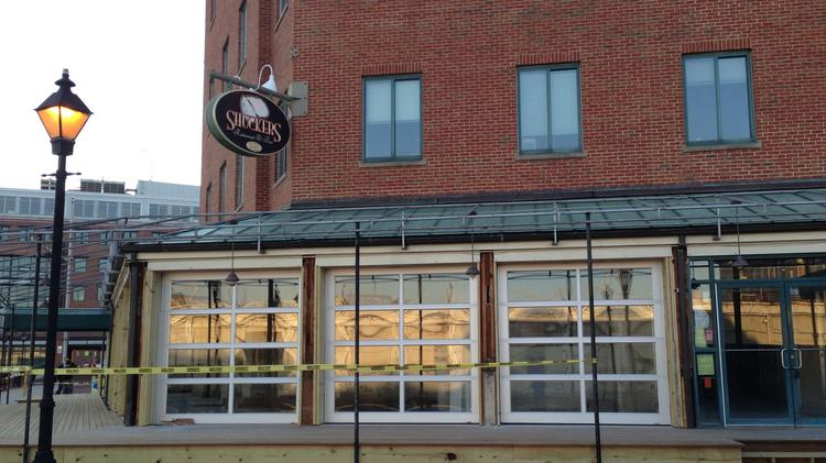 Barcocina, formerly occupied by Shuckers, will include multiple garage doors that open to the Fells Point waterfront.