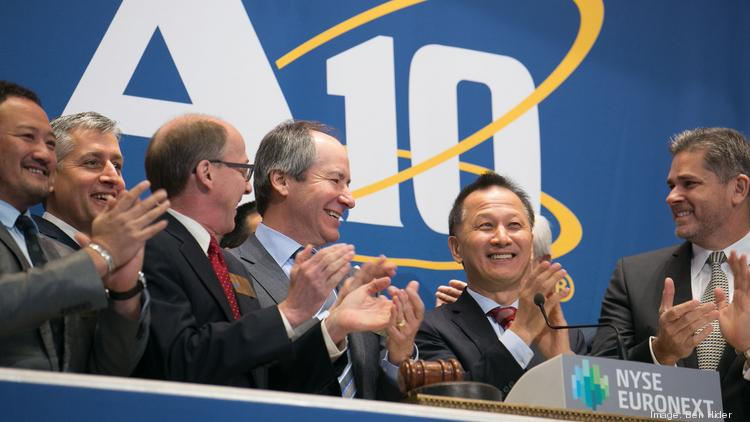 San Jose-based A10 Networks raised $187.5 million on March 21 when it sold its initial shares for $15. Now its headed for a larger HQ in North San Jose.