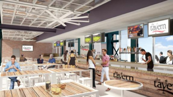 An artist's rendering of the Tavern Ballpark at Coors Field.