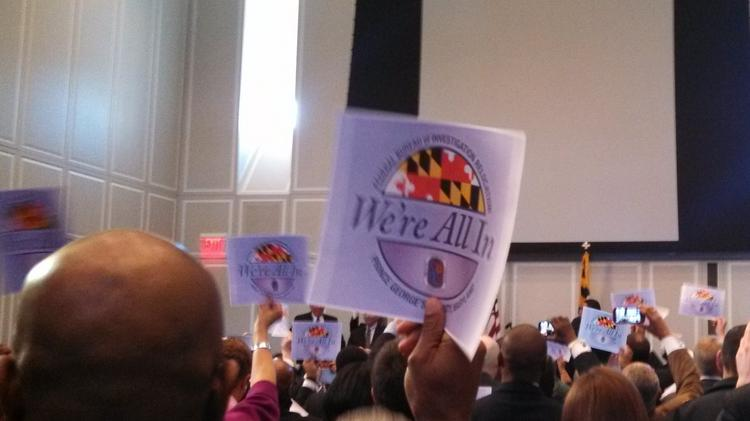 """We're all in,"" is the slogan adopted by Maryland leaders in their efforts to bring the FBI to Prince George's County."