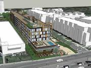 Tryg's Restaurant would be torn down and incorporated into the ground floor of Trammell Crow's apartment complex.