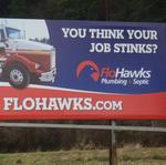 Body humor billboards turn heads, gain attention for septic company FloHawks