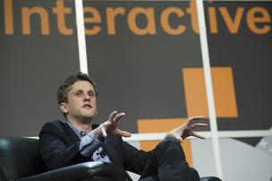 Aaron Levie, co-founder and chief executive officer at Box Inc., speaks during a featured session at the South By Southwest (SXSW) Interactive Festival.