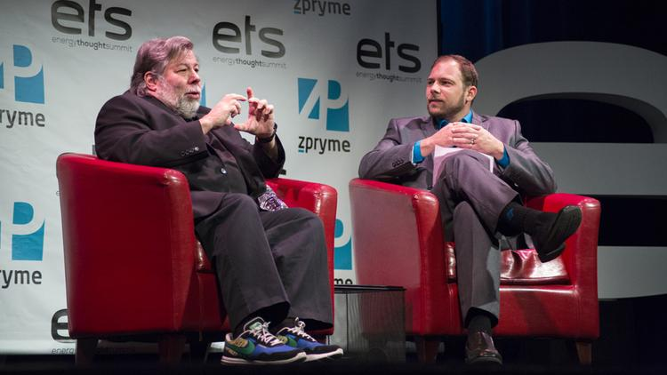 Apple Inc. co-founder Steve Wozniak, left, sat down for an interview Monday with ABJ Editor Colin Pope. The tech visionary shared his thoughts on Apple, Austin and other topics.